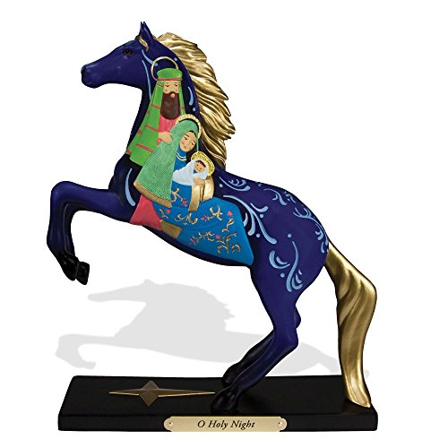 "Enesco Trail of Painted Ponies ""O Holy Night"" Nativity Stone Resin Figurine, 8.23″"