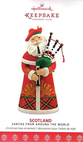 Hallmark 2017 Scotland Santa Member Exclusive Ornament