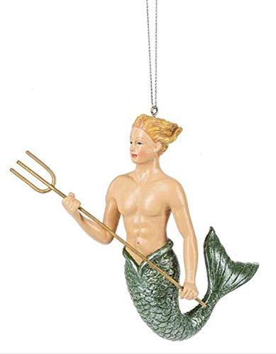 Midwest-CBK Blonde Merman Ornament – Resin 4.5″