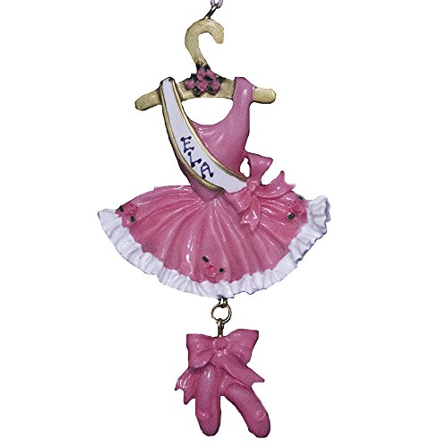 Rudolph and Me Personalized Ballet Ballerina Christmas Ornament 2019