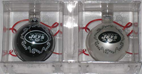 Topperscot New York Jets 2 Pack Home & Away Glass Ball Ornament