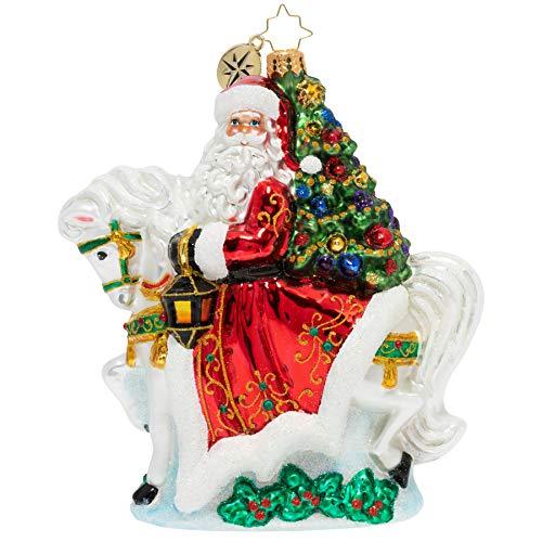 Christopher Radko Galloping Into Christmas Glass Christmas Ornament 1020088
