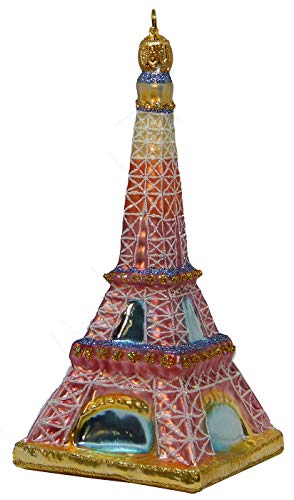 Landmark Creations' Tour Eiffel au Lever du Soleil (Sunrise) European Glass Christmas Ornament