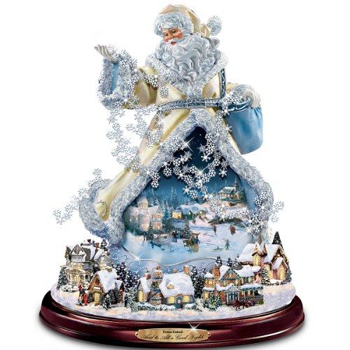 The Bradford Exchange Thomas Kinkade Moving Santa Claus Tabletop Figurine: and to All A Good Night