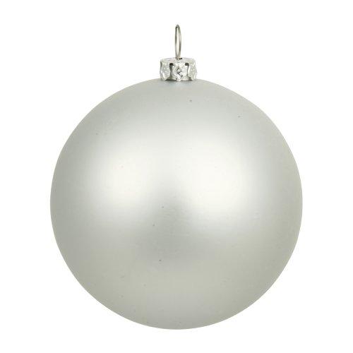 Vickerman 12″ Silver Matte Ball Ornament
