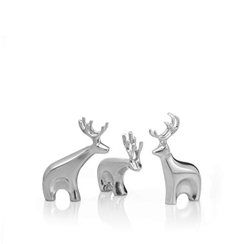 Nambe Miniature Dasher Reindeer Christmas Set – 3 Pieces