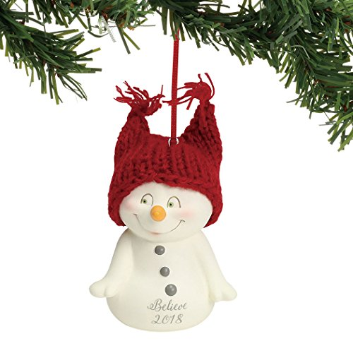 Department 56 Snowpinions Believe 2018, 2.75″ Hanging Ornament, Multicolor