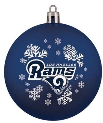 Topperscot Los Angeles Rams Snowflake Shatter Proof Ball Ornament