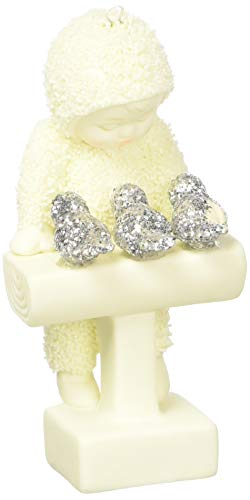 "Department 56 Snowbabies Peace Collection ""Bird Talk"" Porcelain Hanging Ornament, 3.25″"