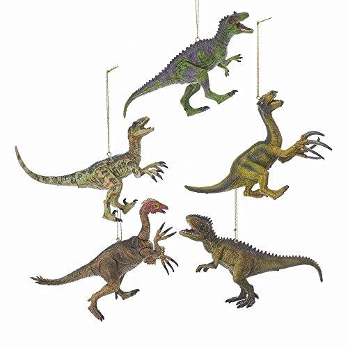 Kurt Adler 5.5″ Plastic Dinosaur Ornament 5/Asstd