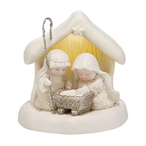 "Department 56 Snowbabies ""Beneath the Christmas Star"" Porcelain Figurine, 4.7″"