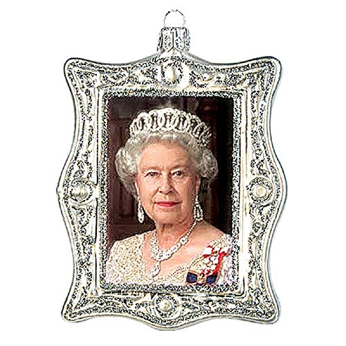 Pinnacle Peak Trading Company Queen Elizabeth II Diamond Jubilee Portrait Polish Glass Christmas Ornament