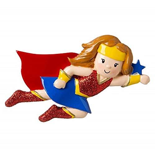 Polar X Super Hero Girl Wonder Woman Super Girl Personalized Christmas Ornament