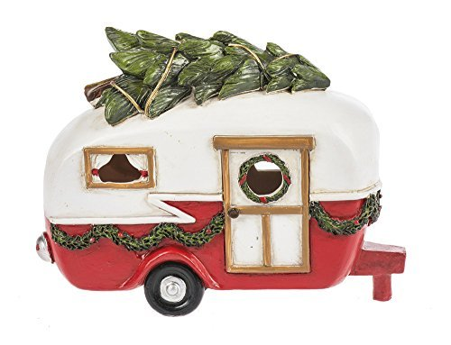 Christmas Tree on Camper Light Up LED 6.5 Inch Tabletop Figurine