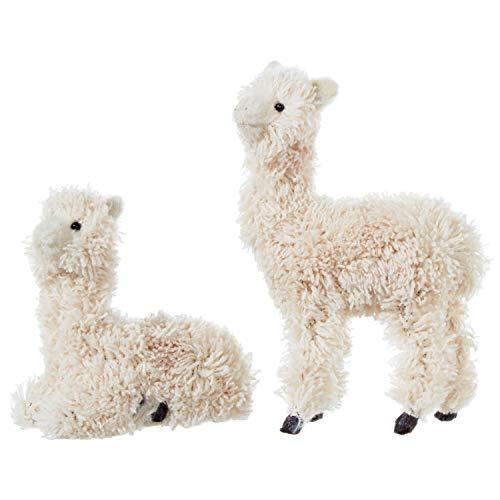 RAZ Imports Llama Ornaments with Faux Fur – Set of 2 Assorted