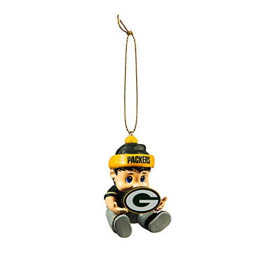 Team Sports America NFL Green Bay Packers Remarkable Adorable Lil Fan Christmas Ornament – 2″ Long x 2″ Wide x 3″ High