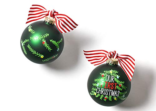 Coton Colors 100 MM Our Our First Christmas Tree Glass Ornament