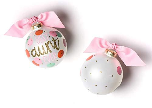 Coton Colors Best Aunt Ever Glass Ornament