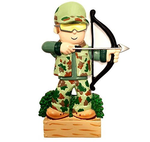 Polar X Hobbies Activities Archery Hunter CAMO Personalized Christmas Tree Ornament