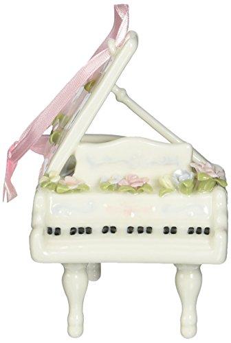 Cosmos SF49002 Fine Porcelain Mini Piano Ornament Musical Figurine, 3-5/8-Inch