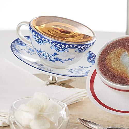 RAZ Imports 4″ Clip On Teacup Glass Christmas Ornament 3953028