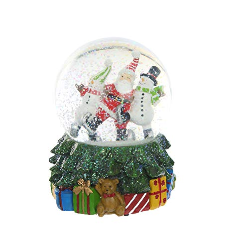Ivy Home Glass Snow Globe Polystone Water Globe with Music