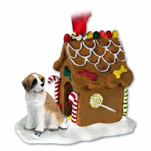 Conversation Concepts New Saint Bernard Ginger Bread House Christmas Ornament