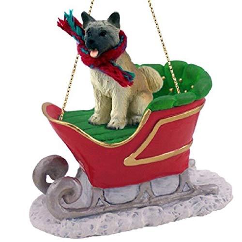 Conversation Concepts Akita Sleigh Ride Christmas Ornament Fawn – DELIGHTFUL!