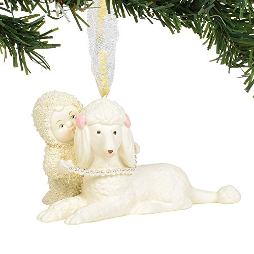 Department 56 Snowbabies Poodle in Pearls Hanging Ornament, 2.25 Inch, Multicolor
