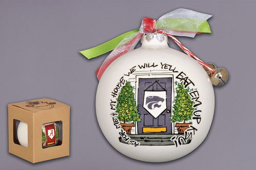 Magnolia Lane As for Me and My House Holiday Ornament (Kansas State Wildcats)