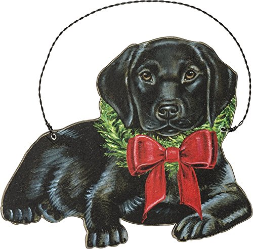 Primitives by Kathy Ornament – Christmas Black Lab Home Decor