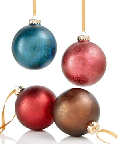 Holiday Lane Glass Mercury Ball Ornaments 4-Pc. Antique-Finish