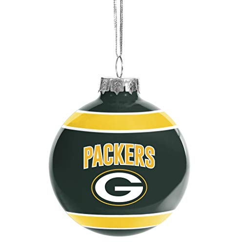 FOCO Green Bay Packers Glass Ball Ornament -Limited Edition Packers Ornament – Represent The NFL and Show Your Team Spirit with Officially Licensed Green Bay Football Holiday Fan Decorations