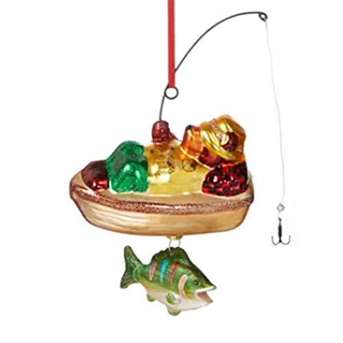 Holiday Lane Lodge Bear Fishing Ornament