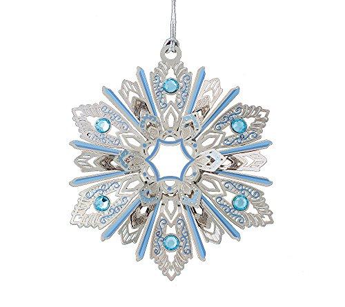 ChemArt Jeweled Snowflake Ornament
