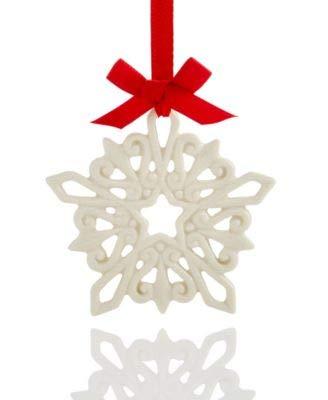 Lenox 2017 Pierced Snowflake Charm Ornament