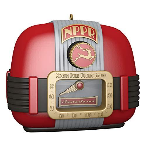 Hallmark Keepsake Christmas Ornament 2019 Year Dated North Pole Public Radio with Sound and Light