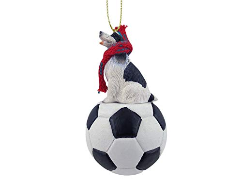 Conversation Concepts: Springer Spaniel Black and White Soccer Sports Fan, Christmas Tree Ornament, Gift, Holiday Home Décor, Festive Figurine