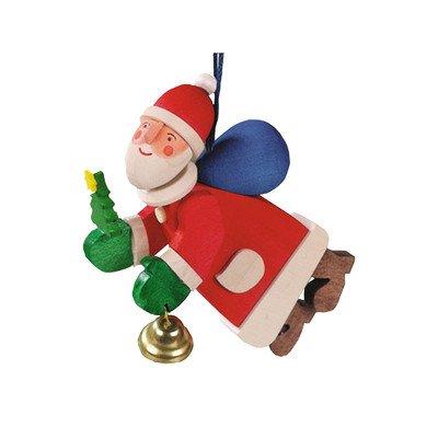 Graupner 4581 Ornament-Santa with Bell-3.25″ H x 1″ W x 3″ D, Brown