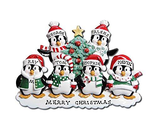 Polar X Personalized Christmas Ornament Penguins Family (Family 6)