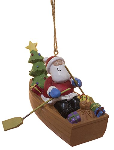 Cape Shore Santa Delivering Gifts in Dory Boat Holiday Christmas Ornament