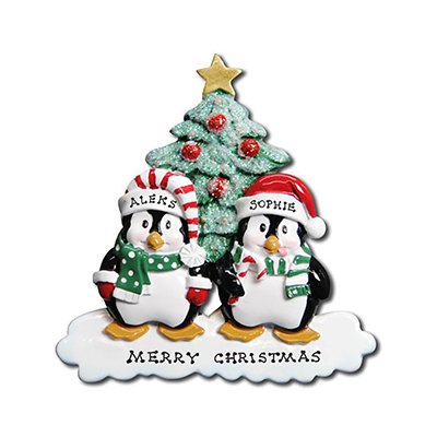 Polar X Personalized Christmas Ornament Penguins Family (Family 2)
