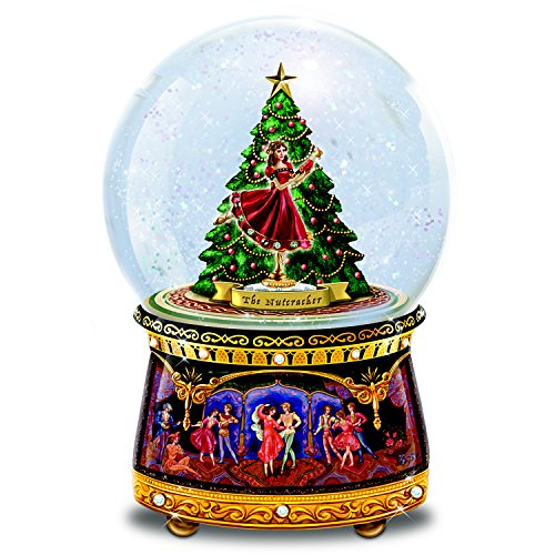 The Bradford Exchange Clara and Nutcracker Musical Glitter Globe Plays Dance of The Sugar Plum Fairy