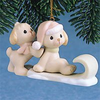 Puppies On Sled Precious Moments Ornament #272892