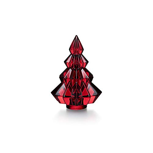 Baccarat Crystal Small Aspen Fir Christmas Tree Red #2813074