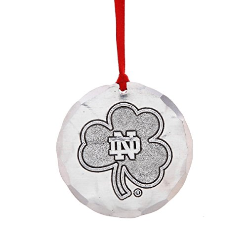 Wendell August Notre Dame University Ornament – Notre Dame Clover Logo, Hand-Hammered Aluminum Hanging Ornament, for Notre Dame Irish Fans – Made in USA Tree Decoration