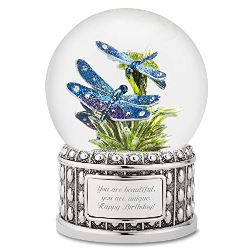 Things Remembered Personalized Jeweled Dragonfly Snow Globe with Engraving Included