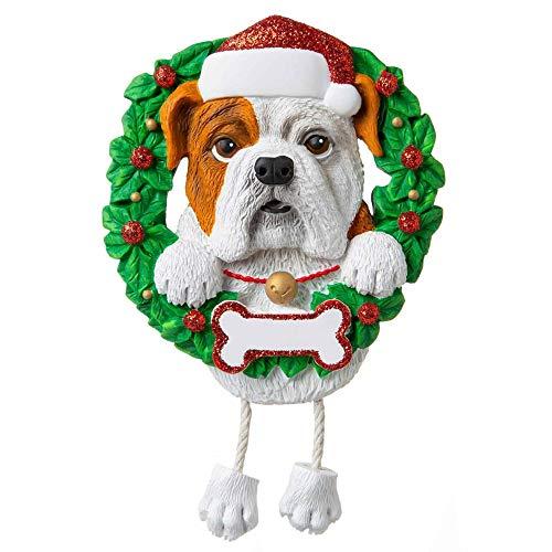 Polar X Bulldog (Pure Breed) Personalized Christmas Ornament