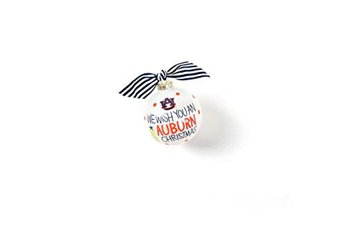 Coton Colors 100 MM Auburn We Wish You Glass Ornament