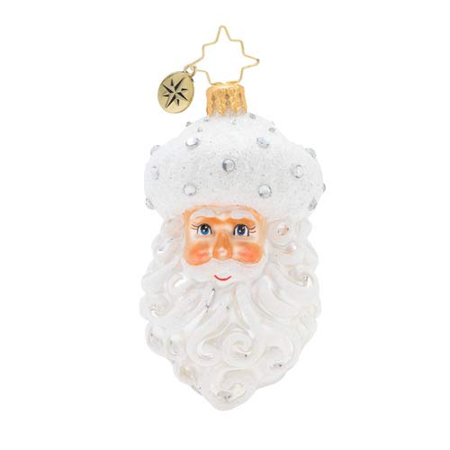 Christopher Radko Hand-Crafted European Glass Christmas Ornaments, Winter Frost Santa